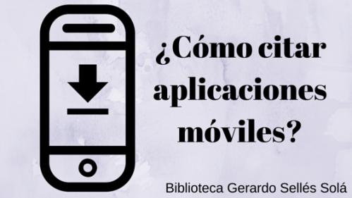 ¿Cómo citar aplicaciones móviles-