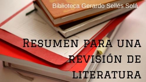 Resumen Rev.Literatura