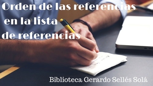 orden de referencias