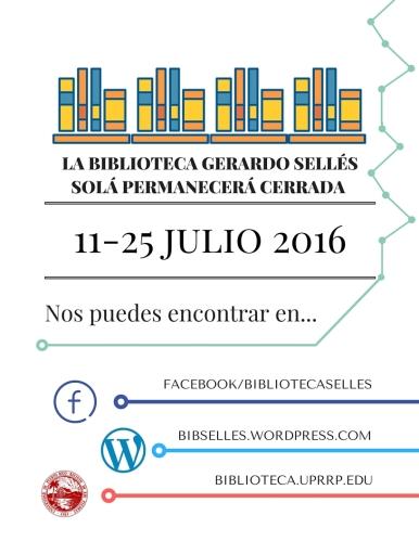 Cierre 11-25 julio BGSS