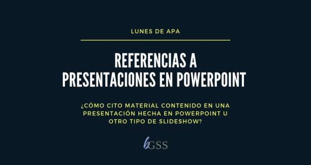 Lunes de APA-Presentaciones PowerPoint