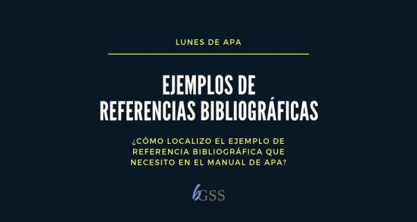 LunesDeAPA-Ejemplos de referencias bibliográficas
